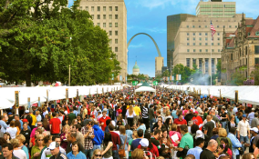 Downtown St. Louis Event with Arch