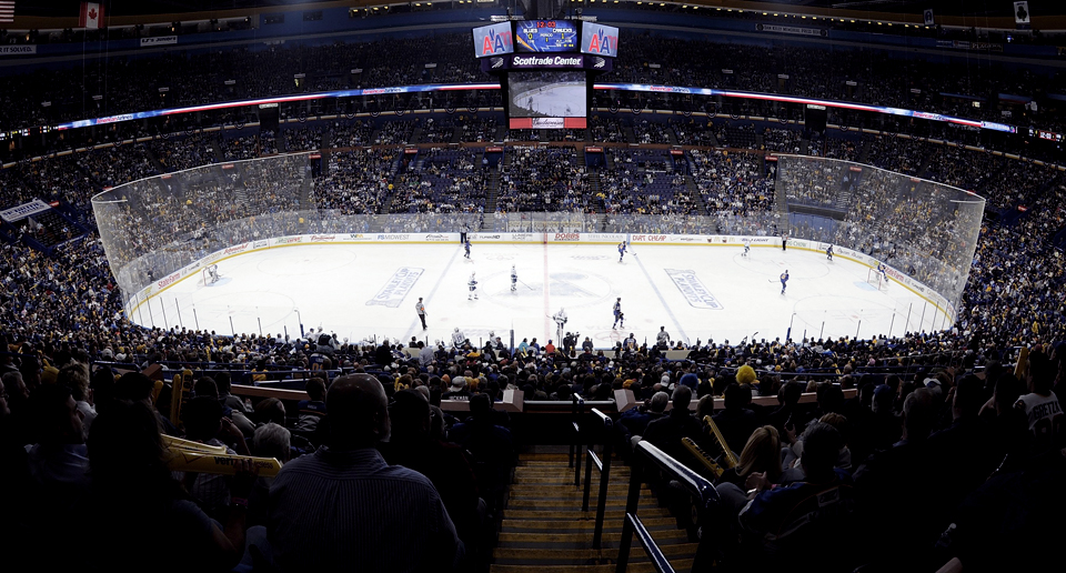 ... Scottrade Center, home of the St. Louis Blues NHL Hockey Team, Paric  Construction selected the Newman by Hollaender™ structural glass railing  system for ...