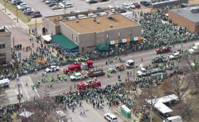 St Patricks Parade in downtown St. Louis, Missouri on March 12, 2011.