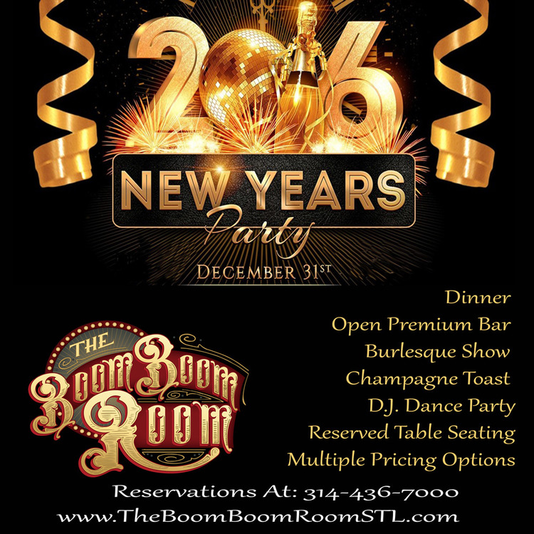 New Year\'s Eve at the Boom Boom Room - Downtown STL